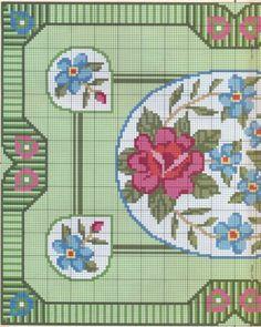 miniature needlework chart (left side)