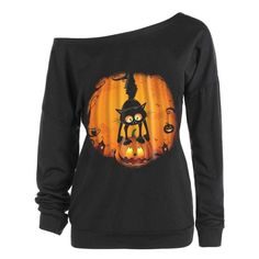 Find the best prices on Women Top Autumn Ladies Fashion Casual Halloween Print Long Sleeve Sweatshirt Pullover Blouse Shirt and save money. Hoodie Sweatshirts, Printed Sweatshirts, Printed Shirts, Best Winter Coats, Halloween Prints, Halloween Shirt, Long Hoodie, Aliexpress, Shirt Blouses