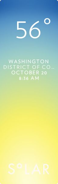 Weather has never been cooler. Solar for iOS.