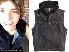 Ashton Irwin: Hooded Denim Vest Similar(Sold Out) / Similar