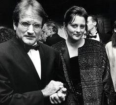Met zijn tweede vrouw, Marsha, bij een screening voor Awakenings in New York in 1990.