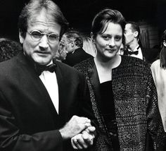 With his second wife, Marsha, at a screening for Awakenings in New York in 1990.