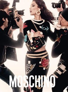 Bella and Gigi Hadid Star in Moschino Spring Summer 2017 Campaign