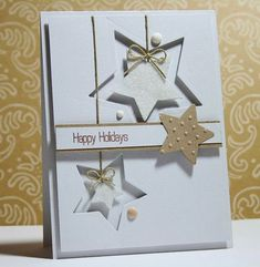 ▷ 1001 + ideas on how to make beautiful Christmas cards yourself - Weihnachtskarten - Homemade Christmas Cards, Homemade Cards, Handmade Christmas, Christmas Diy, Christmas Stars, Merry Christmas, Winter Cards, Holiday Cards, Happy Holidays Cards