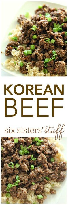 20 Minute Korean Beef from SixSistersStuff.com | Healthy Dinner Recipe | Quick Meal Ideas | Kid Approved Dinners