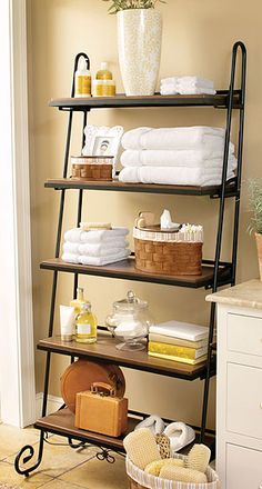 I really want this Longaberger Wrought Iron Leaning Bookshelf.  I just need to make a few more sales.  I love how perfectly it can work in every room.  I want to put it in my master bathroom!!! Wishlist!!