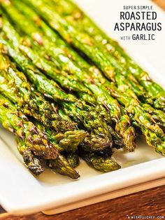 Super Simple Roasted Asparagus with Garlic // wishfulchef.com