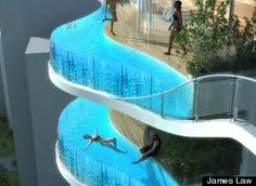 swimming pool balcony...insane