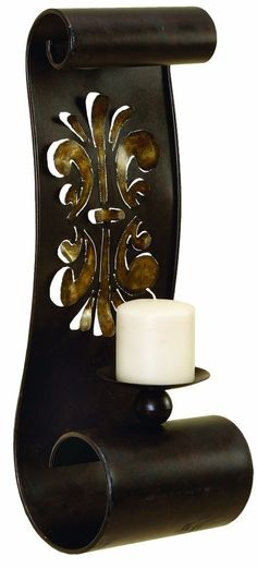 Artistically Designed Metal Candle Sconce