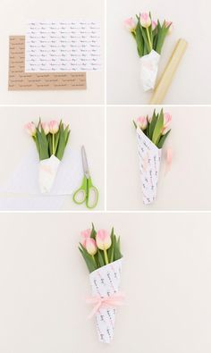Ideas For Flowers Bouquet Box Valentines Day Wrap Flowers In Paper, How To Wrap Flowers, Felt Flowers, Diy Flowers, Flower Decorations, Exotic Flowers, Flowers Garden, Purple Flowers, Flower Bouquet Diy