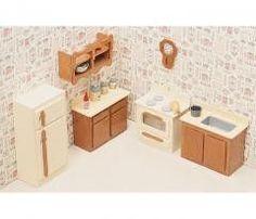 New !! Dollhouse Furniture Kit - Kitchen Set by Greenleaf