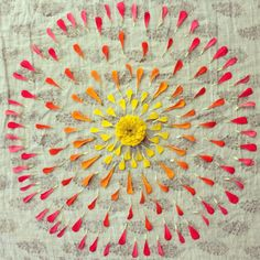 Sunrise Mandala  8.5 by 11 Mixed Media Fine Art by faithevanssills, $28.00
