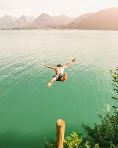 Little lake jump at Wolfgangsee Adventure, Mountains, Landscape, Nature, Travel, Scenery, Naturaleza, Viajes, Destinations
