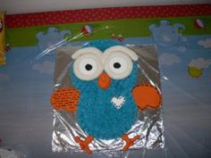 Hoot Cake, buttercream icing