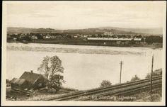 Lillestrøm i Skedsmo kommune Akershus fylke utsikt fra Stalsberg i Strømmen utg Karl P. Torstensen