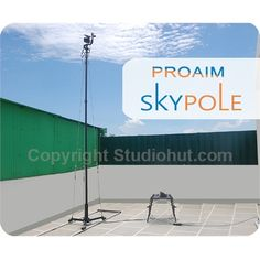 Proaim 14 ft Carbon Fiber Straight Pole offers a wide selection of shots to record high quality footage and vibrant photographs. Order now: http://www.studiohut.com/p-2120-proaim-skypole-14ft-carbon-fiber-straight-pole-with-tdl-300-dolly.aspx