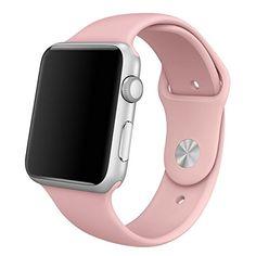 Japace® Uhrenarmband Uhrband Armband aus Silikon Watch Strap Wrist Band Uhr Zubehör für alle Versionen der 38 mm Apple Watch iWatch - Hellrosa - http://besteckkaufen.com/japace/japace-uhrenarmband-uhrband-armband-aus-silikon