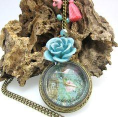 Collares Mujer Rejoj de Bolsillo la Torre del Reloj Estilo Vintage Collars, Pendant Necklace, Jewelry, Art, Fashion, Antique Gold, Pocket Watches, Vintage Style, Rook