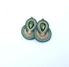 Mini Soutache Earrings ClipOn Earrings Hand by StudioGianna, $15.00