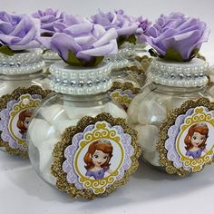 party sofia the first Princess Sofia Birthday, Sofia The First Birthday Party, First Birthday Party Decorations, Disney Princess Party, 2nd Birthday, Lollipop Centerpiece, Princesa Sophia, Mermaid Parties, Princesas Disney