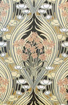 Rene Beauclair Art Nouveau Pattern Design Surface