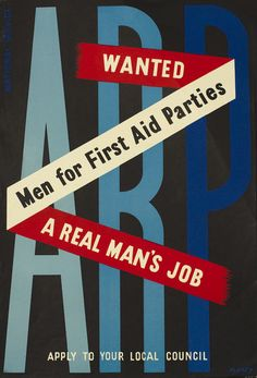 ARP - Wanted - Men for First Aid Parties (small) by Ashley