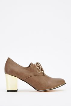 9b9e78747682a Metallic Block Heel Faux Leather Shoes for £5   Everything5pounds.com