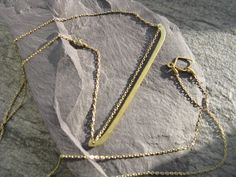 Minimal Geometric : silver brass copper jewellery - Solar barque, golden brass geometric necklace, antique inspired chain necklace with hammered oversized pendant