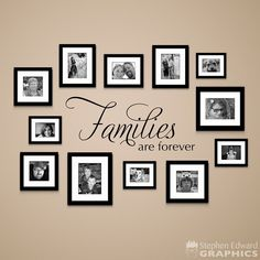 Families are Forever Decal - Gallery Wall Decor - Living Room Wall Art - Family Sticker - Families are Forever Decal is a nice addition to your living room or gallery wall. Family Wall Decor, Family Tree Wall, Room Wall Decor, Room Art, Living Room Kitchen, Living Room Interior, Living Room Decor, Living Rooms, Wall Decal Living Room