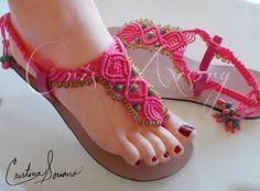Sandalias espectaculares en macramé!!