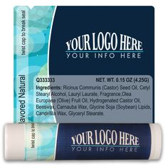 TLB2305 - Business Lip Balm Template 2305 #marketing #promoitem