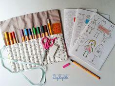 Tuto trousse couture facile :) et petits cahiers à imprimer!