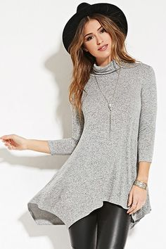 Marled Turtleneck Tunic | Forever 21 - 2000150744