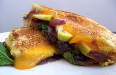 Apple, Kale & Cheddar Melt with Red Onion-Rosemary Marmalade from Poor Girl Eats Well (http://punchfork.com/recipe/Apple-Kale-Cheddar-Melt-with-Red-Onion-Rosemary-Marmalade-Poor-Girl-Eats-Well)