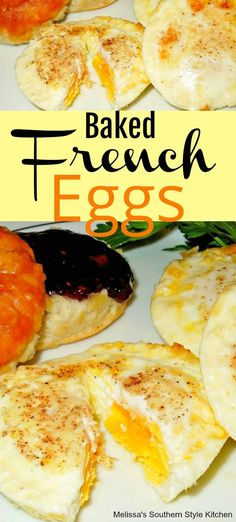 Baked French Eggs eggs muffintineggs muffins eggmuffins eggrecipes food recipes brunch breakfast holidaybrunch christmas newyearsday thanksgiving easy easyrecipes eggbenedict melissas is part of French eggs - Brunch Recipes, Diet Recipes, Cooking Recipes, Healthy Recipes, Tuna Recipes, Egg Dinner Recipes, Diet Desserts, Meatless Recipes, Salads
