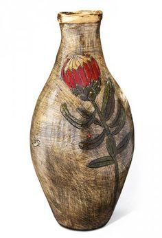 Lucinda Mudge Knysna, South Africa, African, Pottery, Vase, Ceramics, Fine Art, Gallery