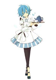 Kaiko!!! >w< so cute!! Kaito's genderbend...
