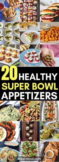 20 Best healthy super bowl appetizers - Instead of snacking on junk food on game day, make these healthy super bowl snacks instead! Healthy Superbowl Snacks, Healthy Appetizers, Healthy Salad Recipes, Healthy Meals, Easy Recipes, Dinner Recipes, Football Snacks, Delicious Recipes, Appetizer Recipes