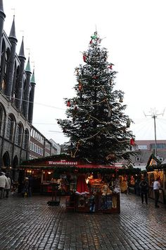 Christmas tree in Lübeck, Schleswig-Holstein, Germany