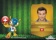Haris Seferovic - Switzerland Player - FIFA 2014 Argentina Players, Brazil Players, Germany Players, Messi Argentina, Sven Bender, Lars Bender, Cristiano Ronaldo Profile, Lionel Messi, Eduardo Vargas