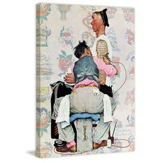 "Marmont Hill - ""Tattoo Artist"" by Norman Rockwell Painting Print on"