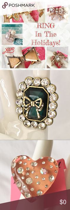 Betsey Johnson 🎄 💍 Ring In The Holidays! 💍 🎄 New and retired collections are represented in my Posh Closet of goodies for the Holidays!   Check them all out and enjoy all the sparkling goodness. 💍  There are some lovely retired Kirk's Folly rings, too. Collector's items! 😍 Betsey Johnson Jewelry Rings