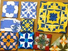 """Лоскутное шитье: """"Японский веер"""" или """"Ватрушки"""". Видео мастер-класс - Ярмарка Мастеров - ручная работа, handmade Circle Quilts, Mini Quilts, Quilt Blocks, Quilting Tips, Machine Quilting, Quilting Designs, Origami Quilt, Fabric Origami, Quilt Festival"""