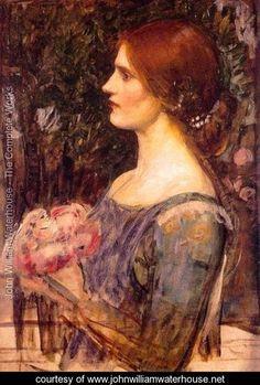 The Bouquet 1908 - John William Waterhouse - www.johnwilliamwaterhouse.net