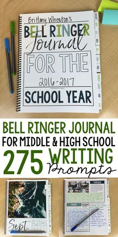 Bell ringer journal prompts   275 writing entries   middle and high school ELA