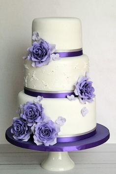 Sweet Avenue Cakery: wedding cake. Wedding Cake Fresh Flowers, Small Wedding Cakes, Purple Wedding Cakes, Elegant Wedding Cakes, Beautiful Wedding Cakes, Wedding Cake Designs, Beautiful Cakes, Blue Wedding, Wedding Ideas