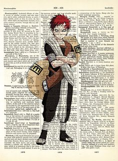Gaara from Naruto Vintage Dictionary A