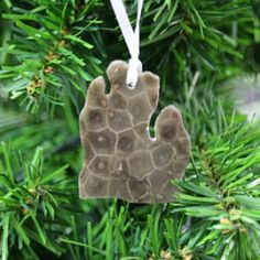 Petoskey Stone Ornament - Grandpa Shorter's