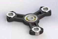 fidget hand spinner, juguete regalo antiestres-impresión 3d