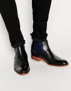 Image 1 ofTed Baker Camroon Leather Chelsea Boots